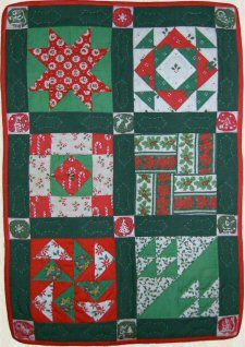 Mini Sampler Quilt - Free to Member's pattern from Victoriana Quilt Designs. http://www.victorianaquiltdesigns.com/VictorianaQuilters/PatternPage/MiniSampler/MiniSampler.htm #quilting