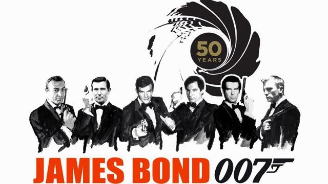 PICK YOUR BOND. Sean Connery, George Lazenby, Roger Moore, Timothy Dalton, Pierce Brosnan and Daniel Craig. Image from the James Bond 007 Fa...