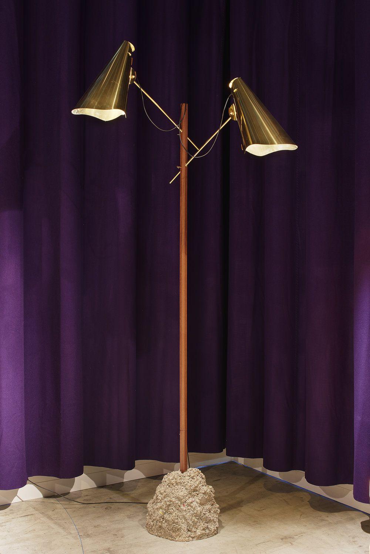 Street Lamp By Fos Brass Concrete Wood Gold Floor Lamp Furniture Design Modern Furniture Design
