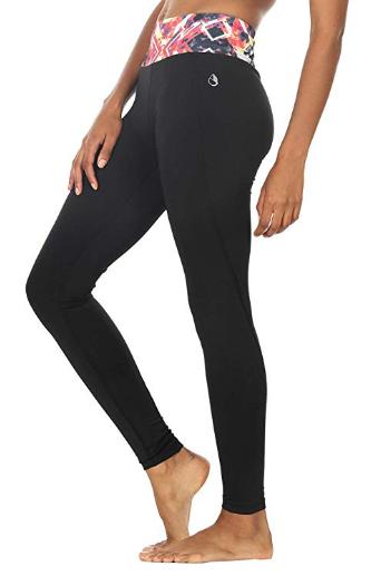 icyzone Pantalons Elastiques de Yoga Femmes Leggings Taille Haute Fitness  Jogging Collants a2de25e80be