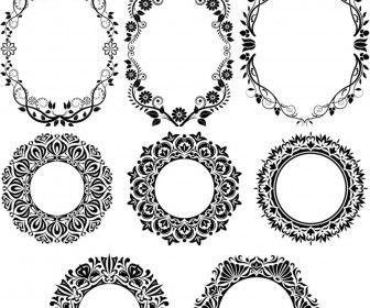 Round decorative floral frames vector | Winter Wedding | Pinterest ...