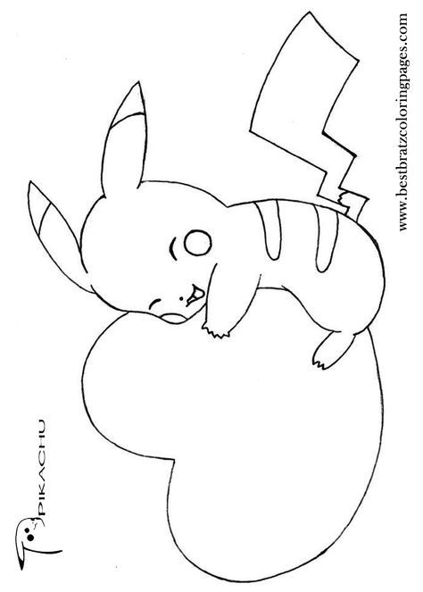 Free Printable Pikachu Coloring Pages For Kids Valentine