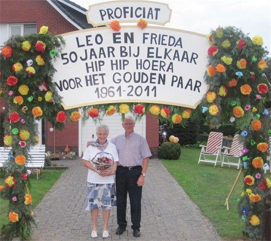 Versiering gouden bruiloft gouden bruiloft 50 jaar for Gouden bruiloft versiering