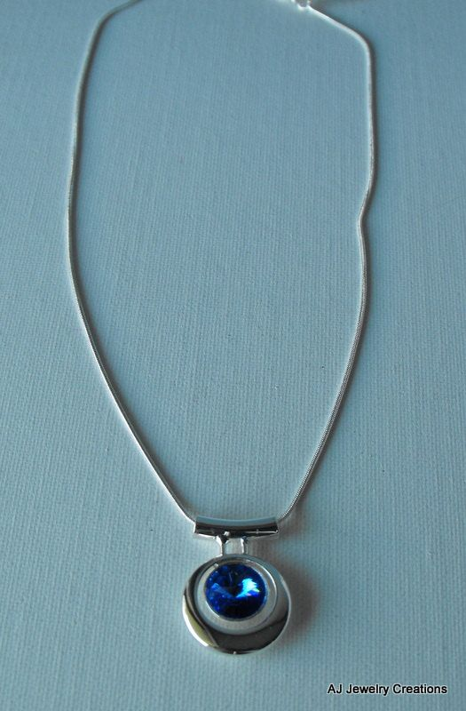 Swarovski and Sterling Silver Necklace by AJJewelryCreations