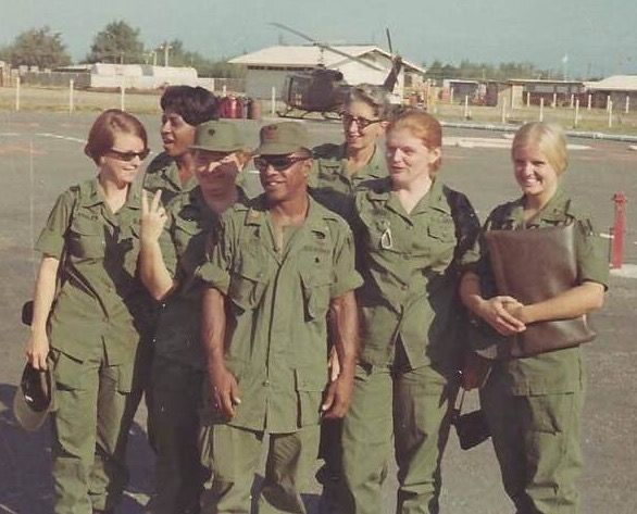 c5eb5425df1 U.S. Army nursing/medical staff. 1969 36th Evac Hospital closing Leaving  Vung Tau.