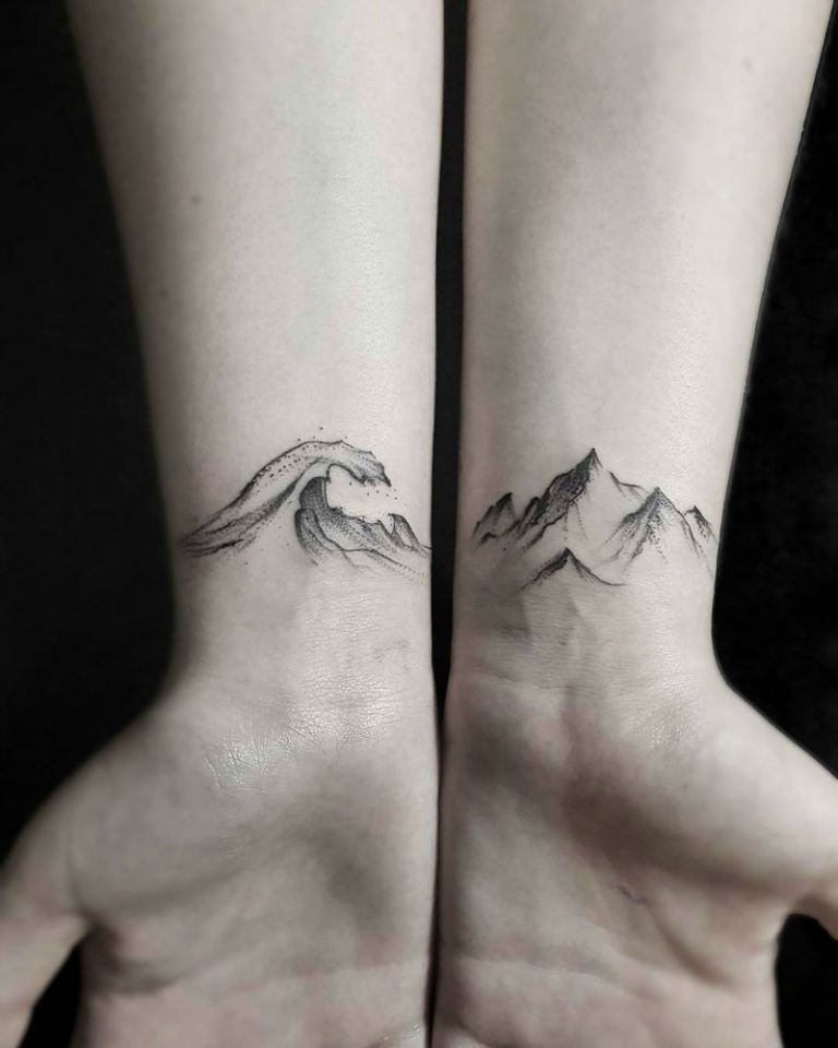 30 Small Wrist Tattoos: 30 Epic Mountain Tattoo Ideas