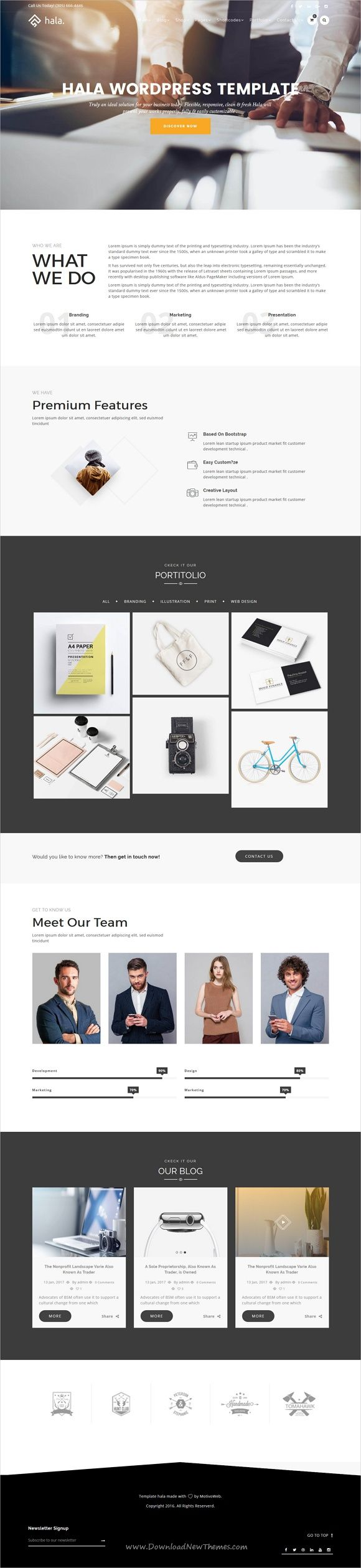 Hala Is A Creative Responsive Wordpress Theme For Showcase Your Portfolio Agency Photography Or Creative Wordpress Themes Wordpress Theme Layout Download