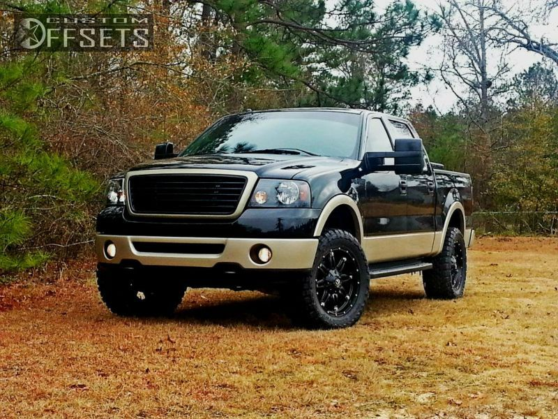 Wheel Offset 2008 Ford F 150 Aggressive 1 Outside Fender Leveling Kit Custom Rims Ford F150 Ford Trucks F150 Ford F150 Accessories