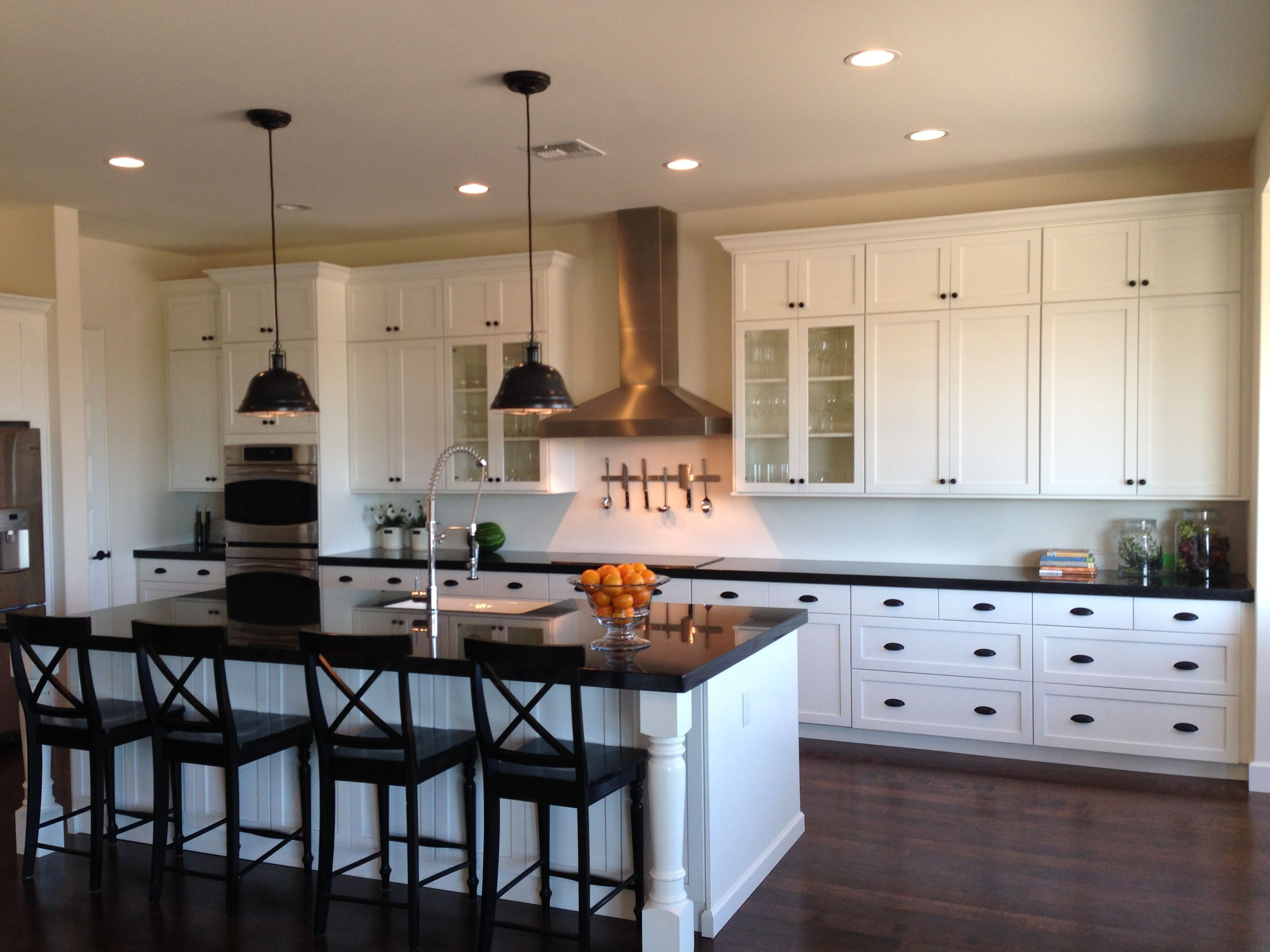 Ikea painted white with Indian Black Granite Top