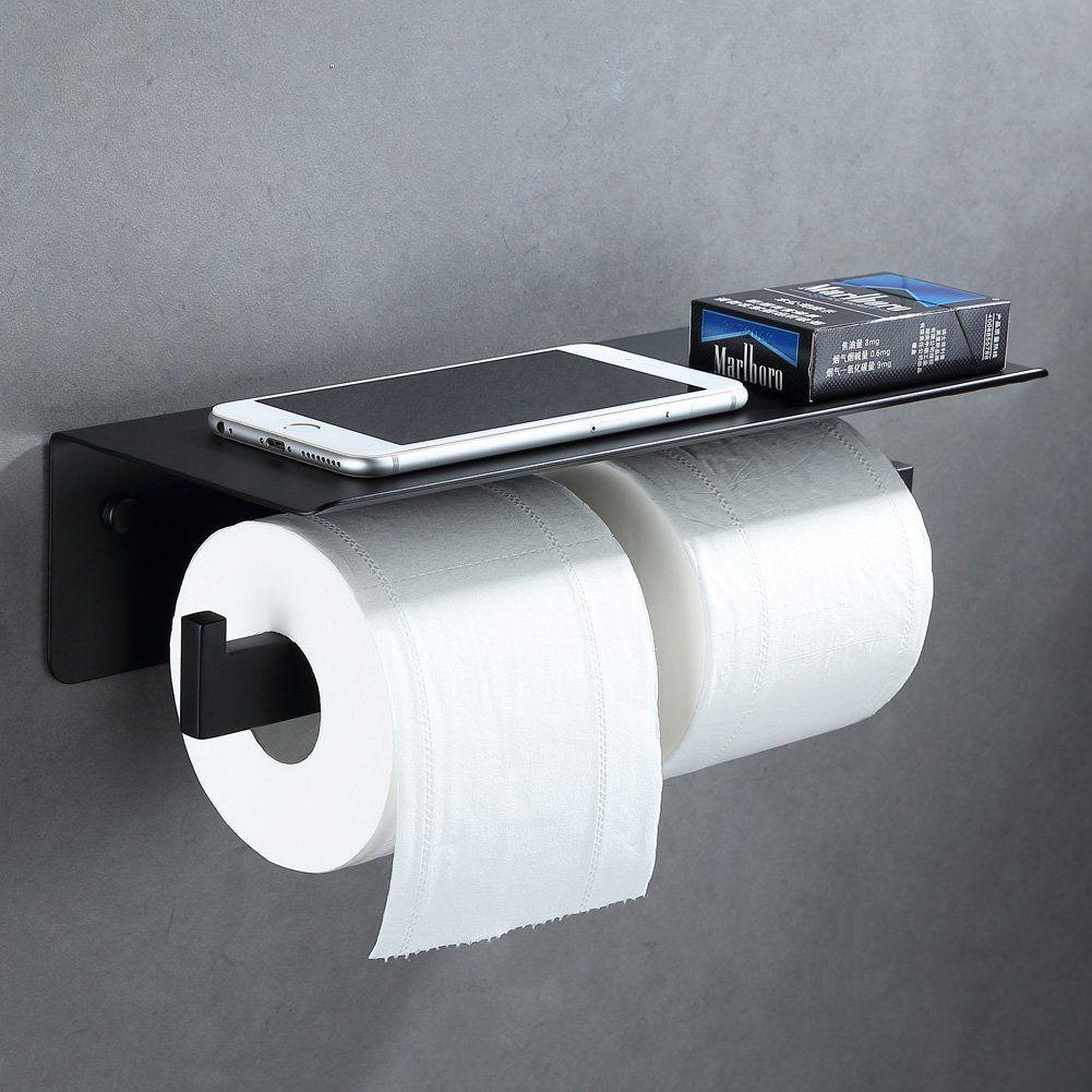 Toilet Paper Holder With Magazine Rack Sus304 Stainless Steel Bathroom Tissue Dispense Toilet Paper Holder Toilet Paper Holder Shelf Bronze Toilet Paper Holder