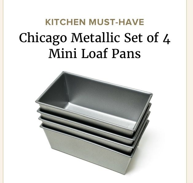 Mini loaf pans make it a snap to churn out petite breads and cakes for homemade holiday gifts, and our winning set from Chicago Metallic delivers the best results. In our testing, these pans produced loaves with beautifully even browning and tall, pronounced doming. Plus, their squared-off corners gave our loaves precise, attractive edges—perfect for gifts that look and taste great.
