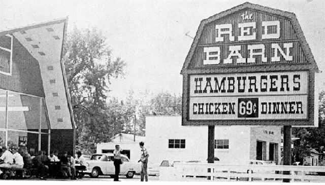 Red Barn Columbus Indiana 1966 Obscure Restaurants Pinterest