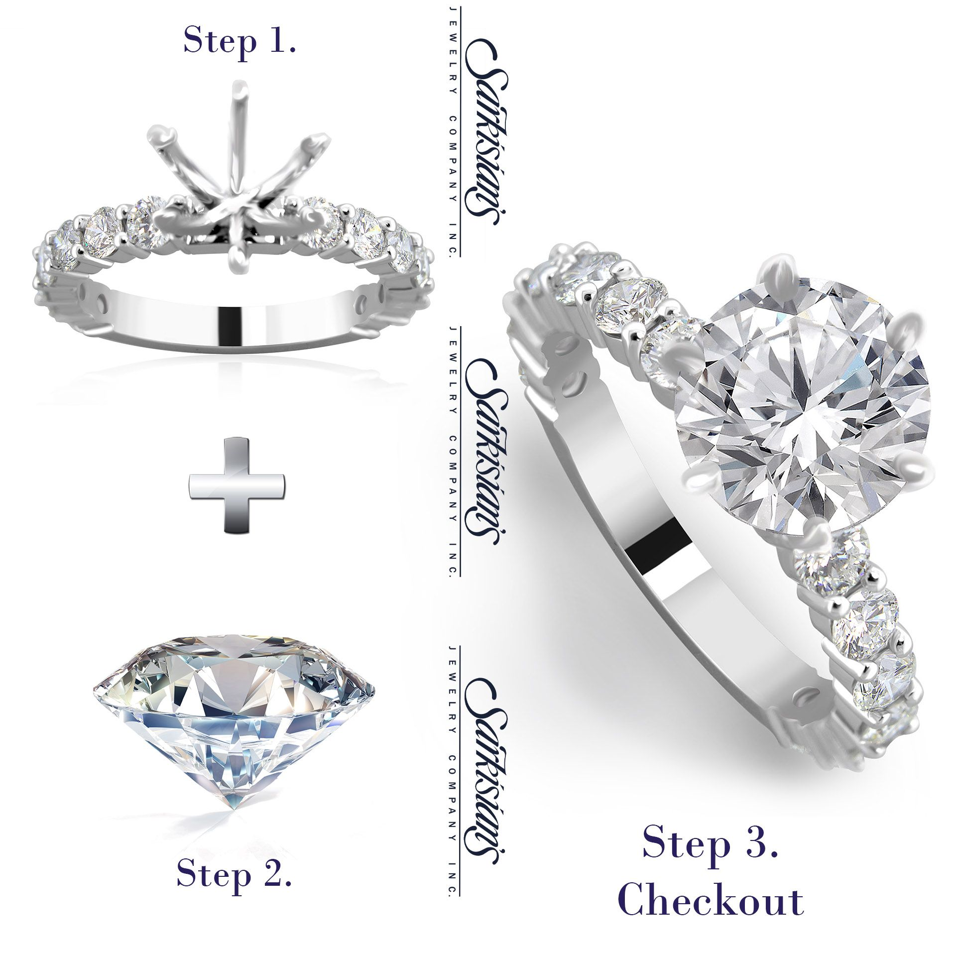 👨 🎨👨 🔧💍Build your own engagement ring by 3 easy steps 1