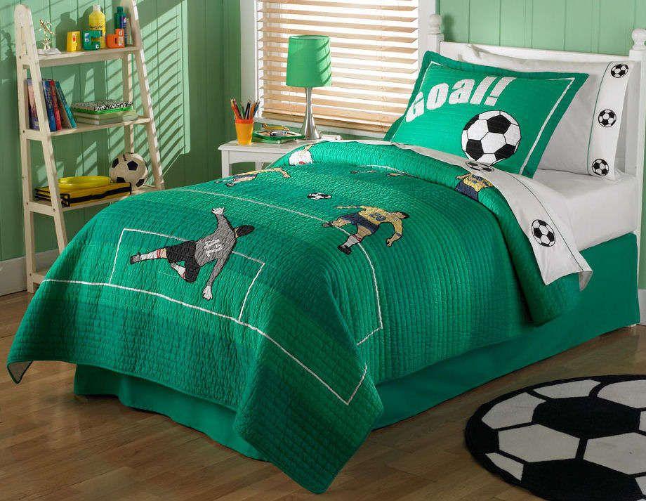 Soccer Themed Bedroom Ideas | Boy Bedroom Design with soccer ...