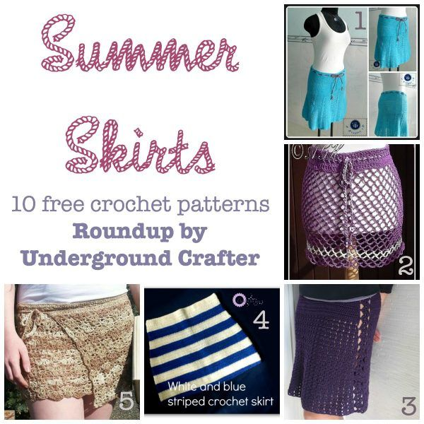 Summer Skirts - 110 free crochet patterns compiled by Underground ...