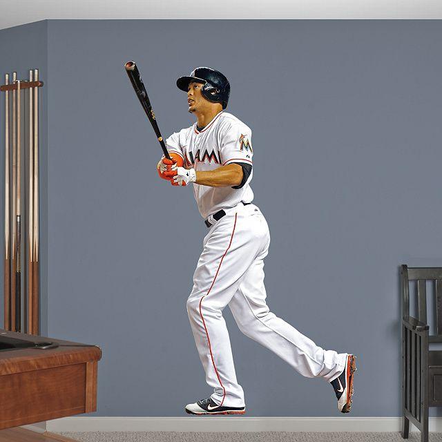 Real Big Mlb Manneshohle Baseball Giancarlo Stanton Miami Marlins Diy Bedroom Wall Decal