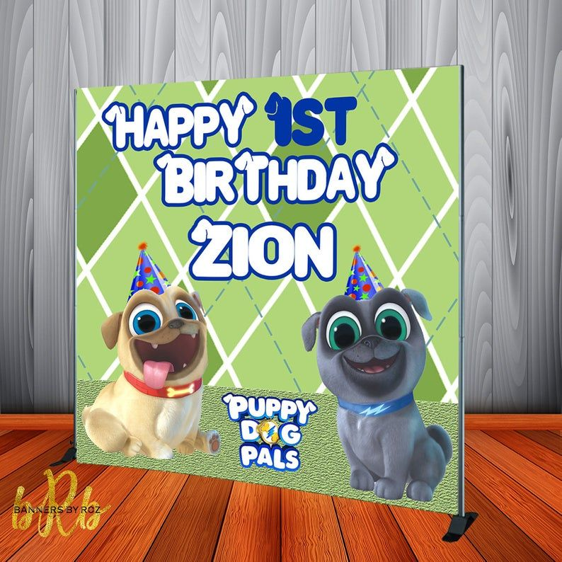 Puppy Dog Pals Backdrop Personalized Backdrop Puppy Dog Pals