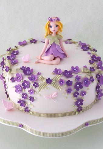 purple fairy cartoon cake cake ideas Pinterest Cake and Food