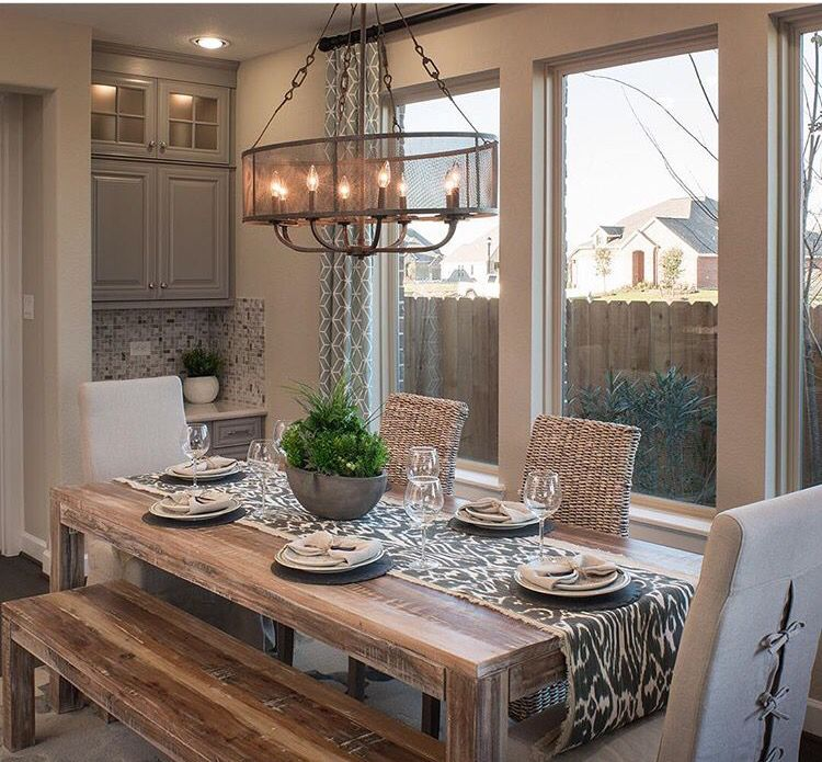Home Staging Dining Room Table: Home Decor, Rustic Dining Table