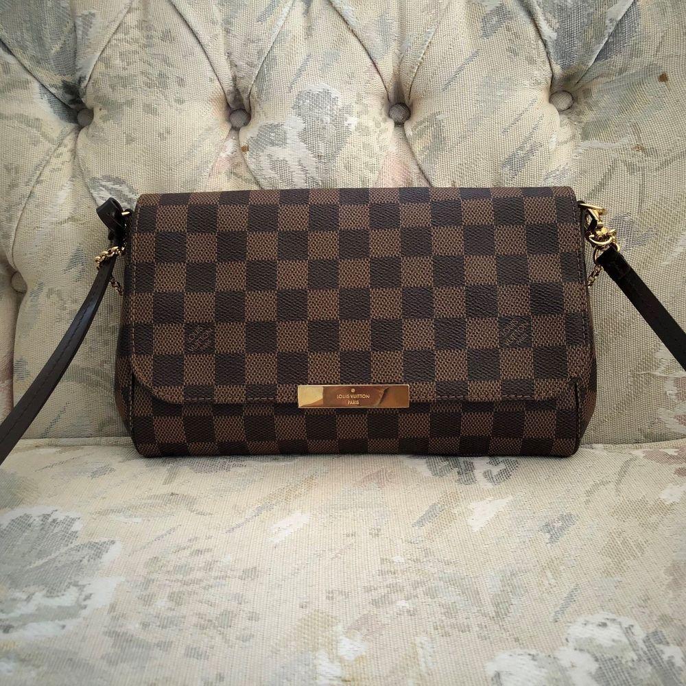 fd492fdbbff 100% AUTHENTIC LOUIS VUITTON DAMIER EBENE FAVORITE MM PURSE #fashion  #clothing #shoes #accessories #womensbagshandbags #ad (ebay link)