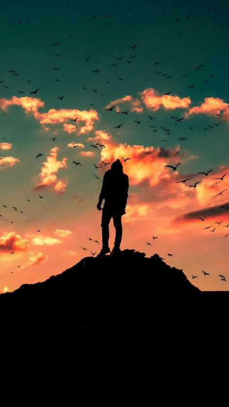 Man in Silhouette iPhone Wallpaper Free GetintoPik
