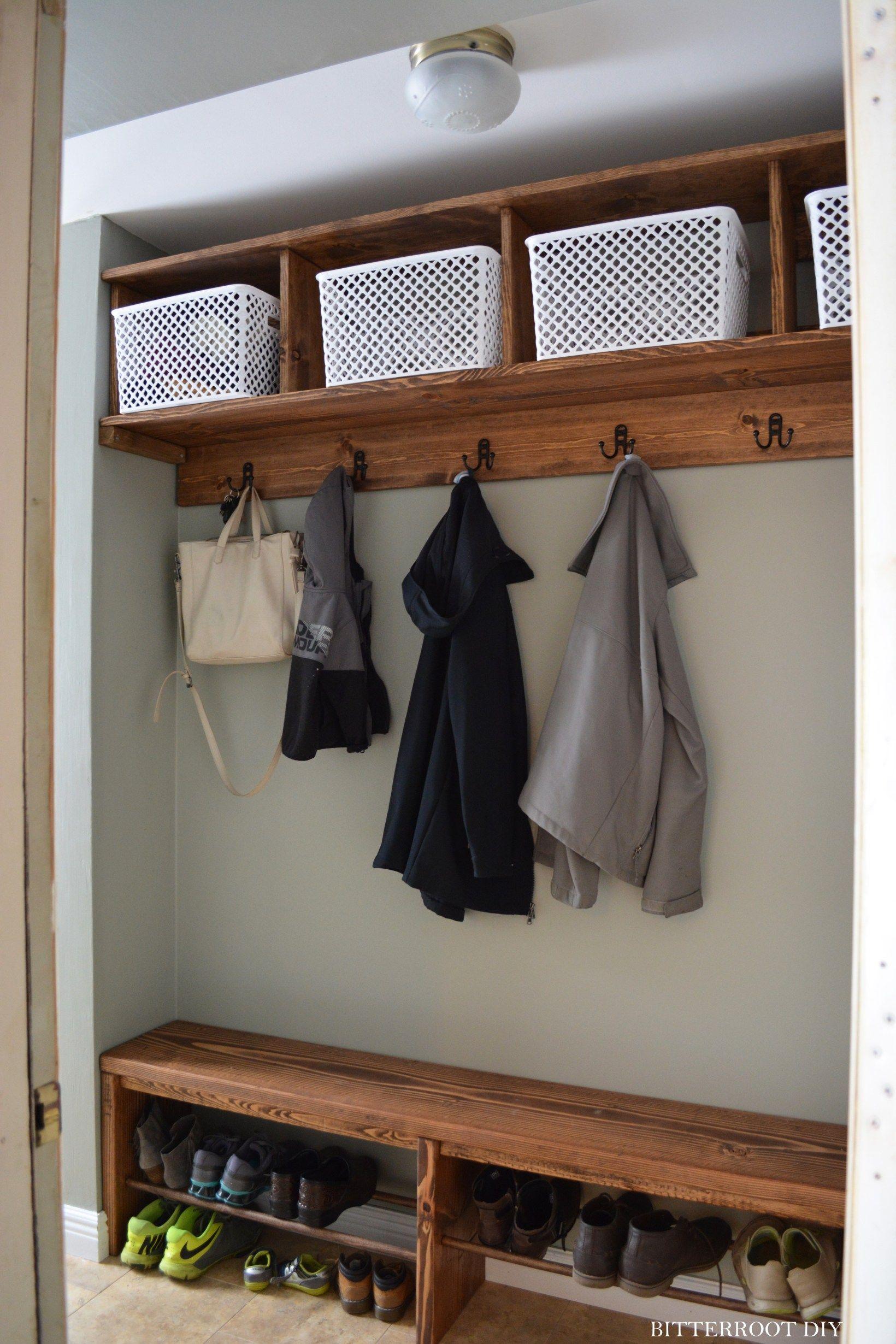 Easy Mudroom Bench With Shoe Storage Bench With Shoe Storage Diy Storage Bench Shoe Storage Bench Diy