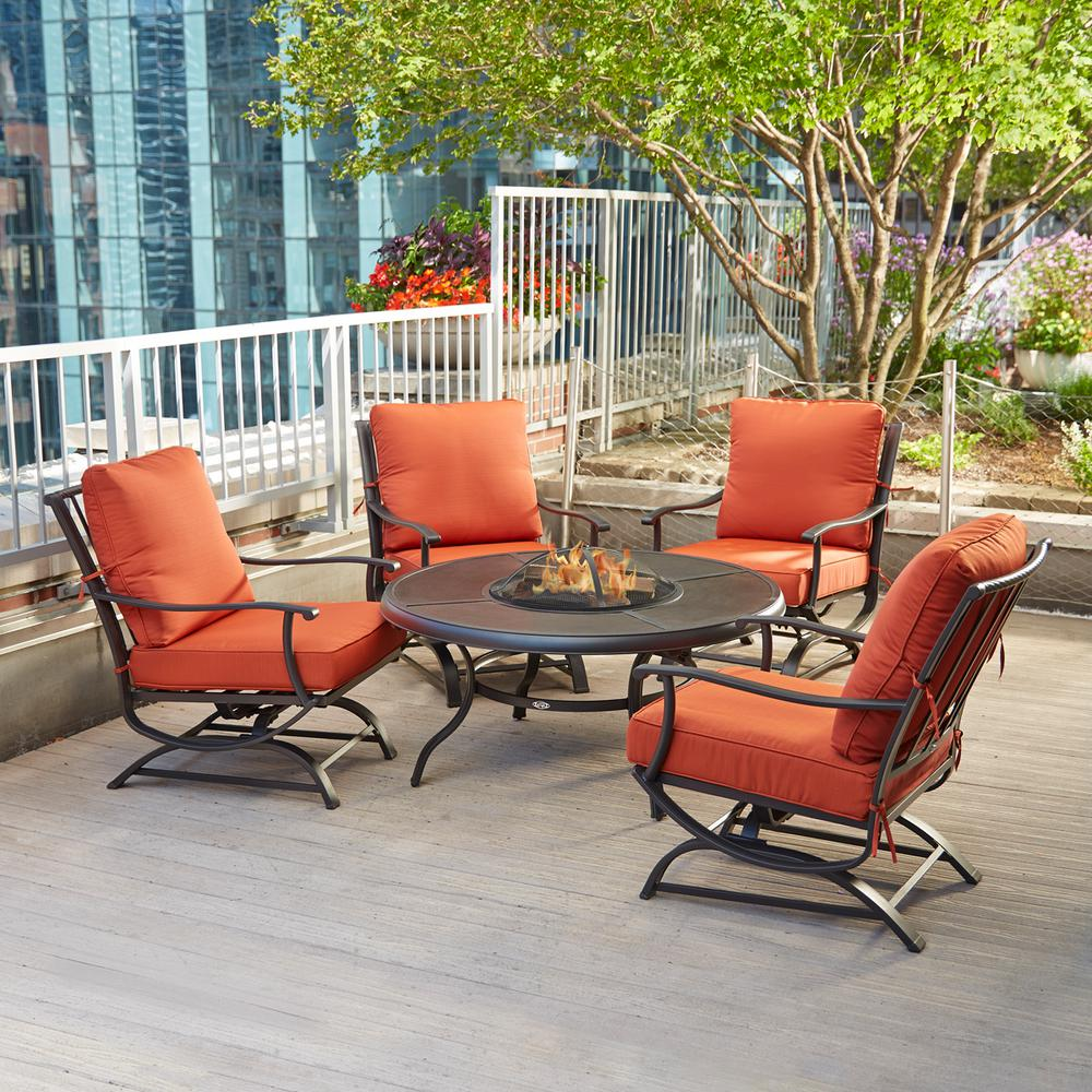 piece patio fire pit seating set
