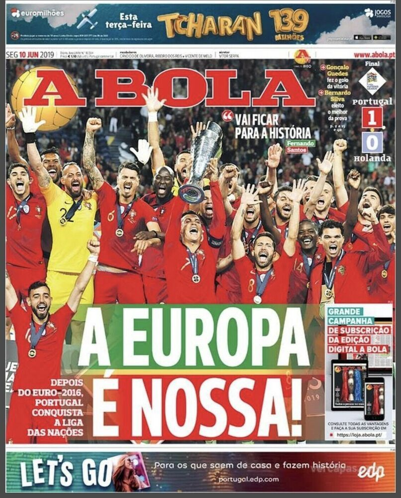 Details About 1st Uefa Nations League Portugal Champion A Bola