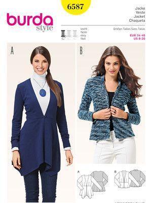 6587 ESB   Jacken,Kimonos etc   Pinterest   Burda style, Ausschnitt ...