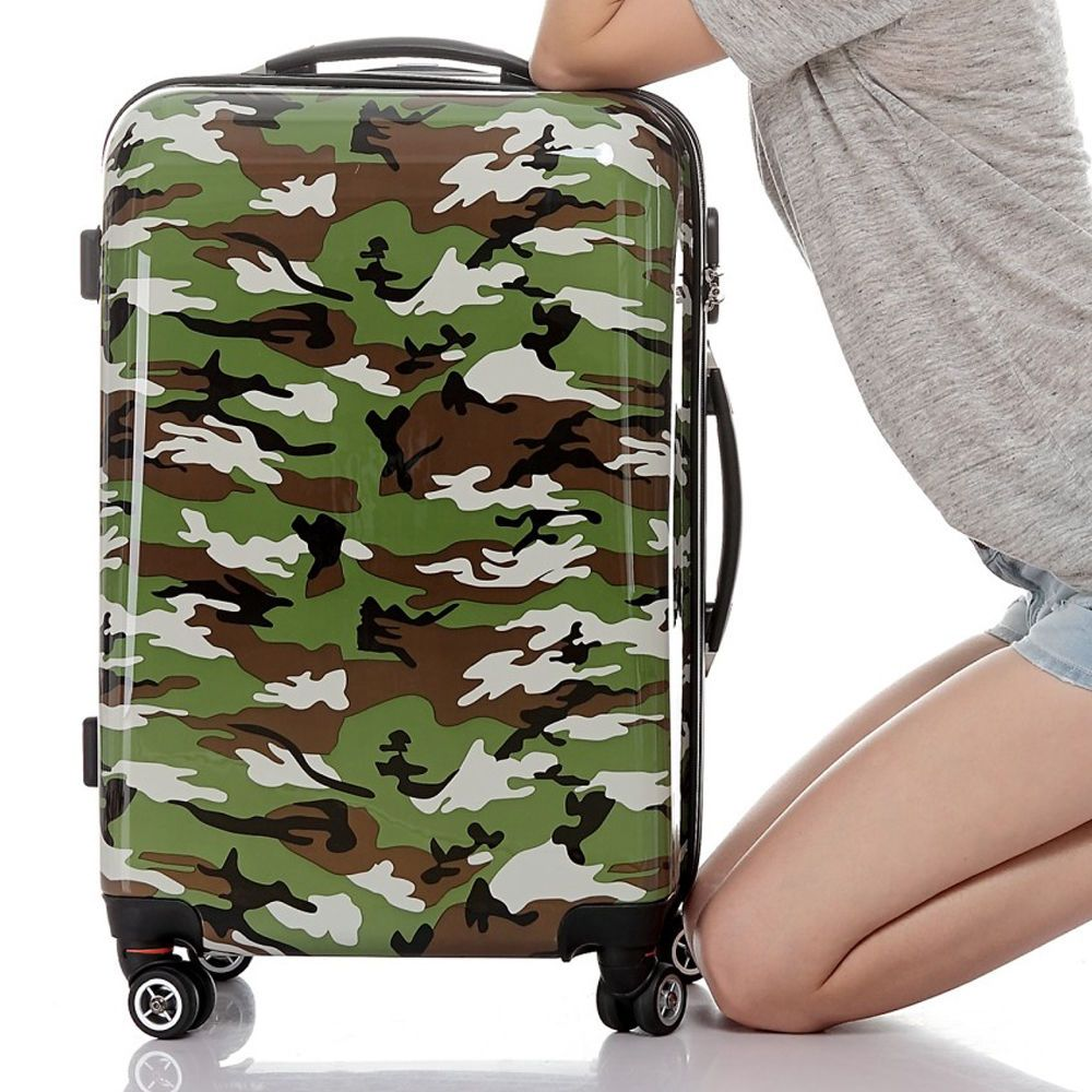 So large discount!!!!! 1 x Travel Luggage Suitcase Camouflage ...