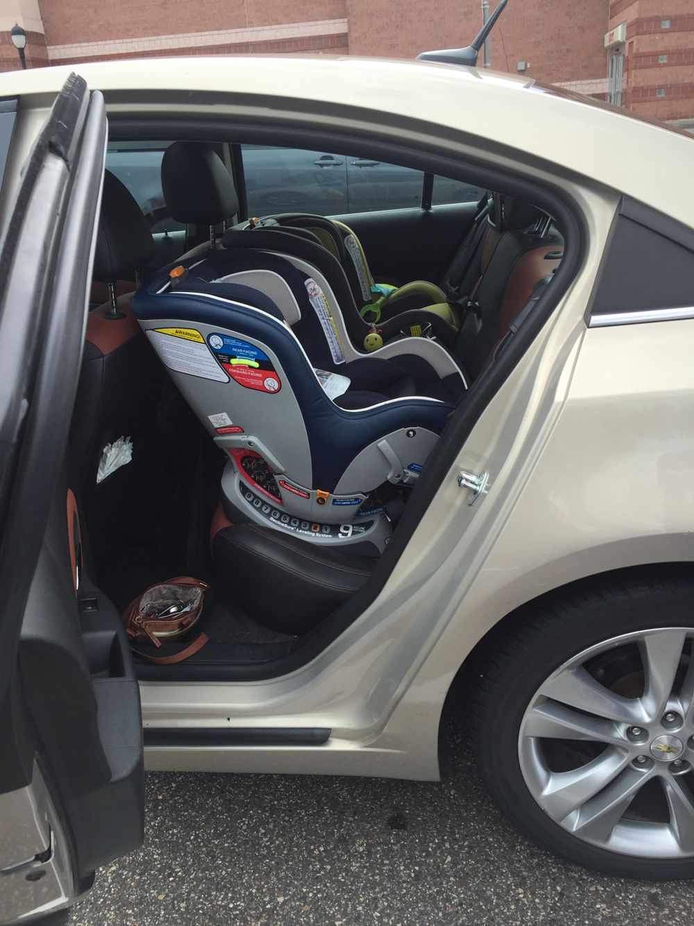 Two Chicco Nextfit Car Seats In Chevy Cruze