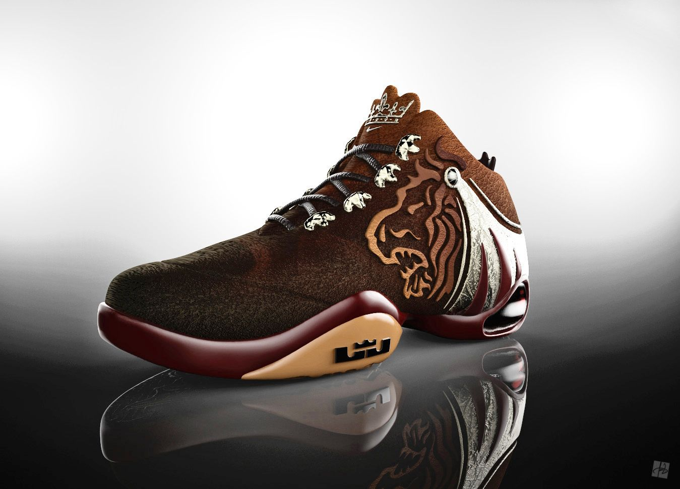 watch 203e4 66784 Nike LeBron James basketball shoe design and 3D visualization For more  images with different view visit
