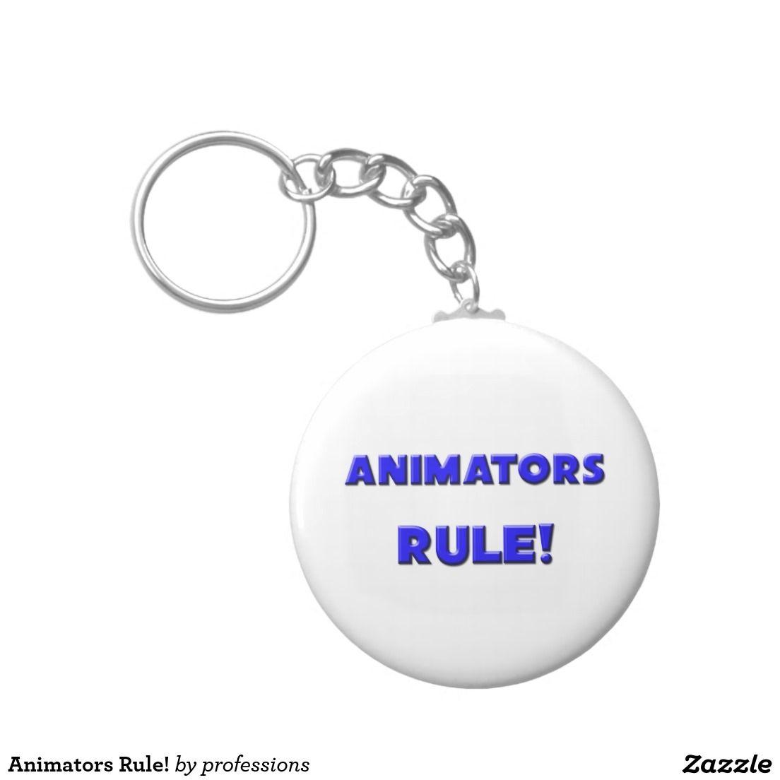 Animators Rule! Basic Round Button Keychain