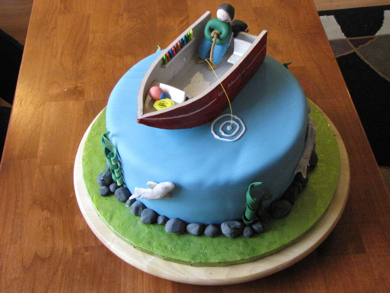 Fishing Boat Cake My Cakes Pinterest Boat Cake Fishing - Boat birthday cake ideas