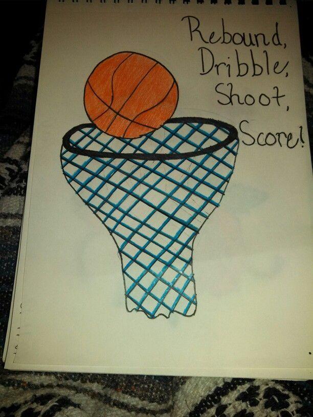 Rebound dribble shoot score basketball drawing Allie \ Amy - basketball score sheet template