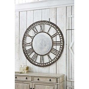 Antique Mirror Clock Regina Andrew Design redefines contemporary style. With an artist's eye, they skillfully mix modern with rustic; elegant with casual; romantic with relaxed. #reginaandrewdesign #homedecor #design #interiors #interiorhomescapes #interiorhomescapes.com