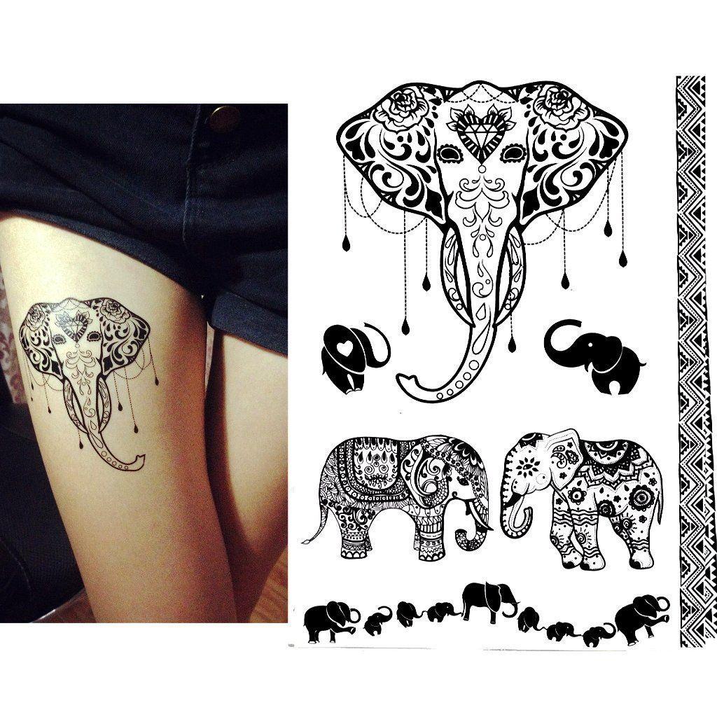 Black Henna Tattoo Uk: Pin About Henna Elephant Tattoos, Tattoo Designs And Black