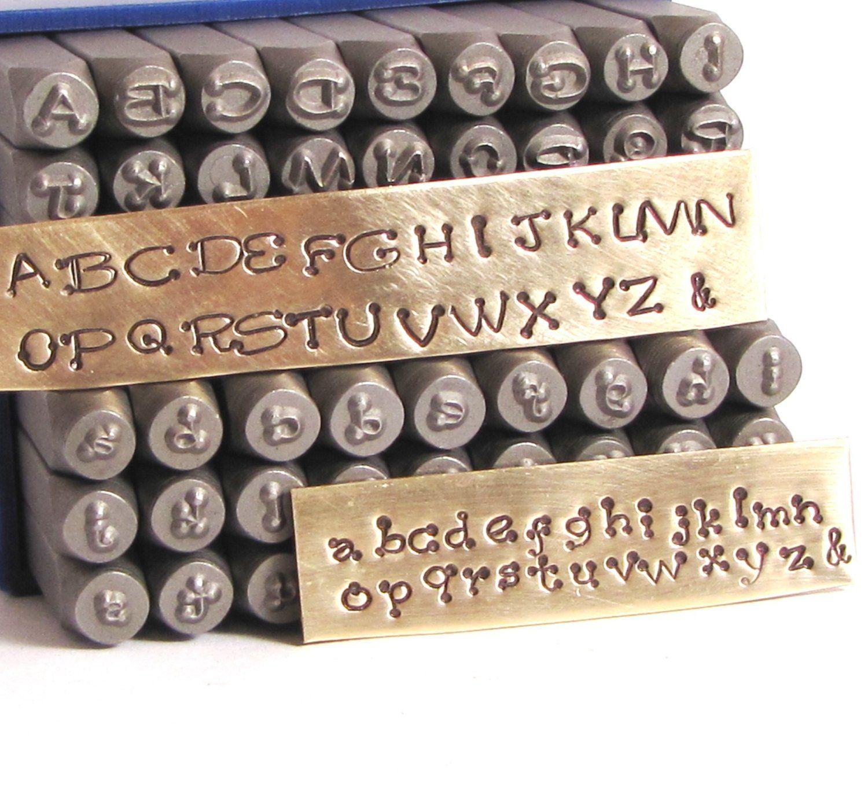 Piccadilly Font Stamps 3 Mm Upper Cases And Lower Case Metal Stamp Set Steel Letter Alphabet Metal Stamping Metal Stamping Kit Letter Stamps