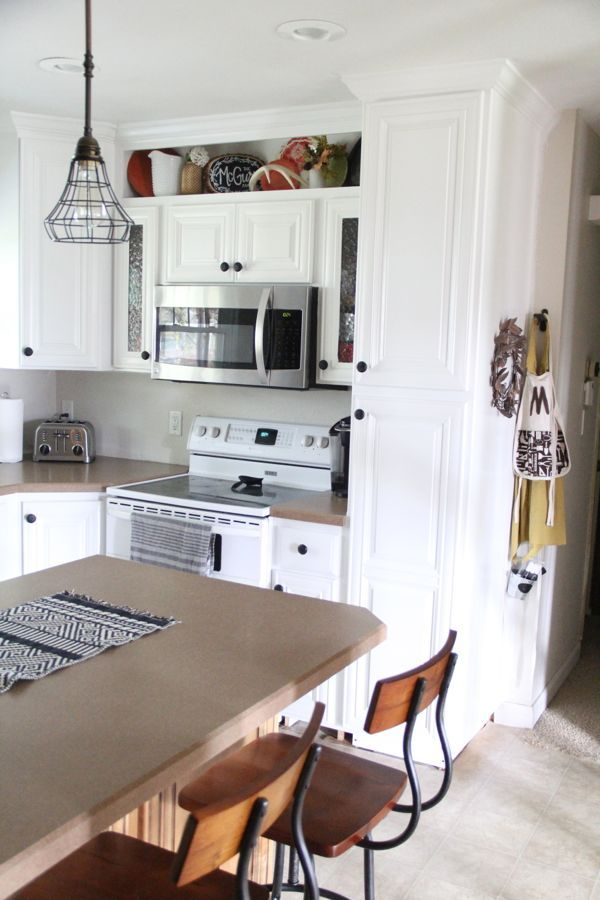 how to build open shelving above cabinets for custom look rh pinterest com decorating shelves above kitchen cabinets add shelves above kitchen cabinets