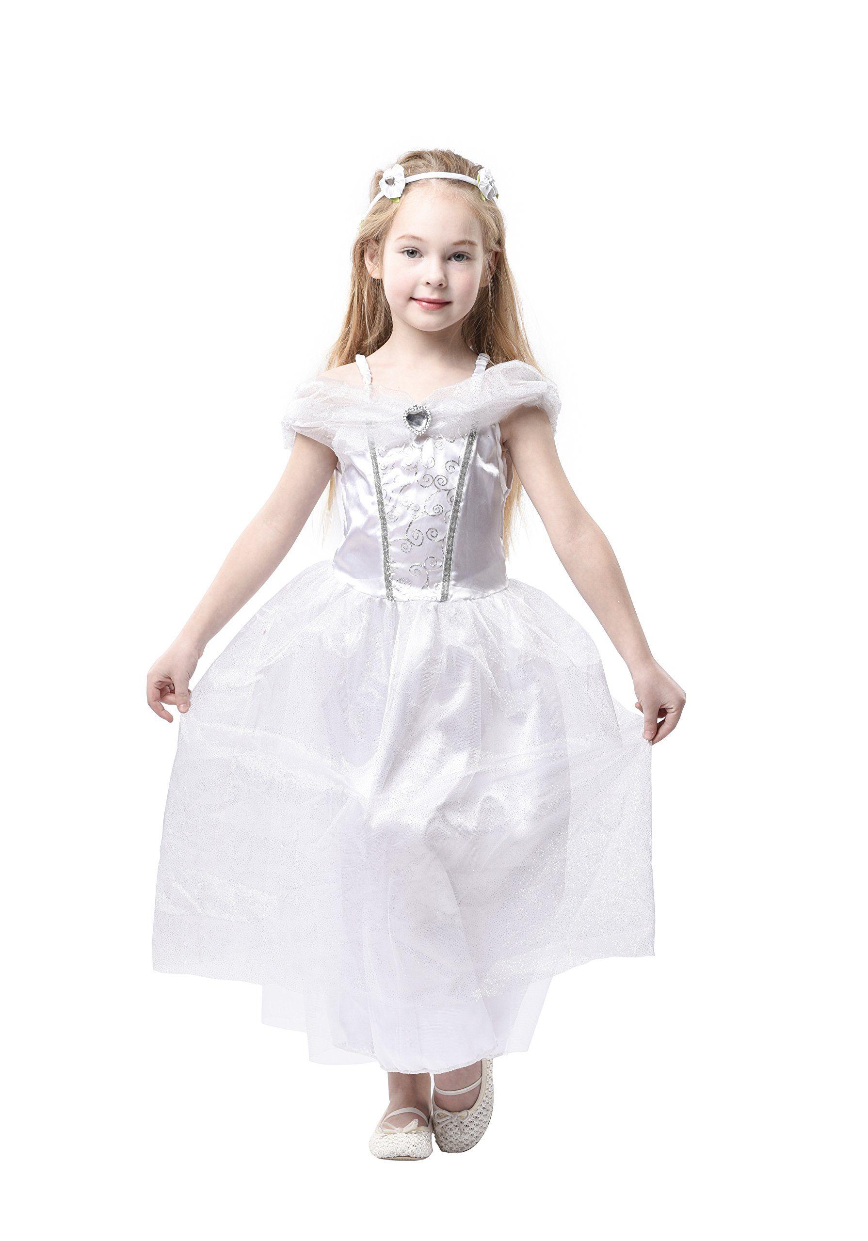 Blue panda wedding dress kids bride costume bridal gown