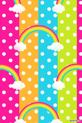 polka dot backgrounds rainbow white polkadots iphone