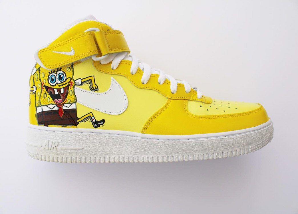 spongebob custom air force 1