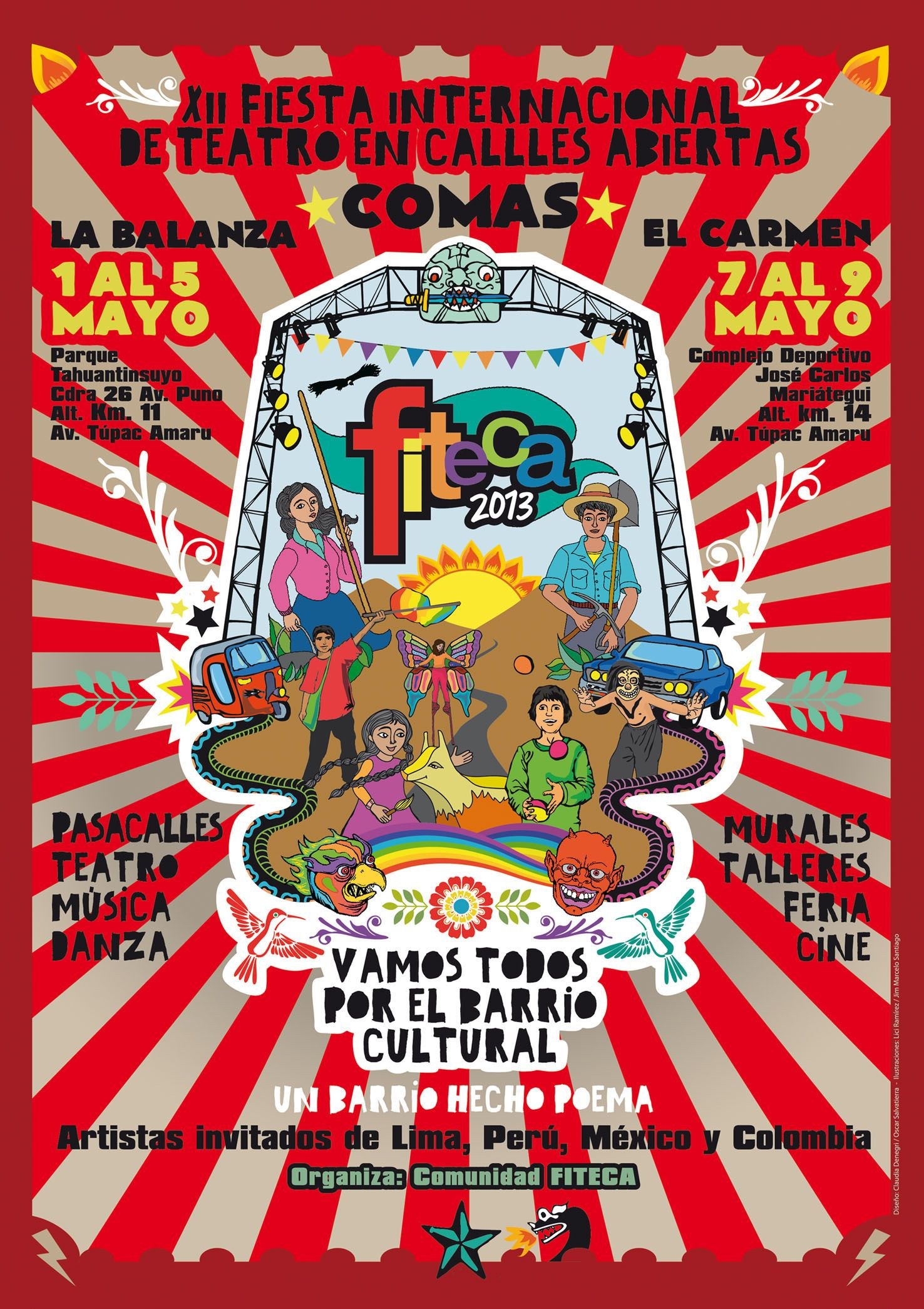 FITECA Fiesta Internacional de Teatro en Calles Abiertas 2013