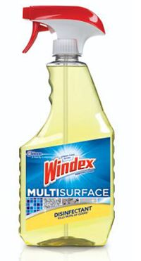 Disinfects and cleans glass, granite, stainless steel ...
