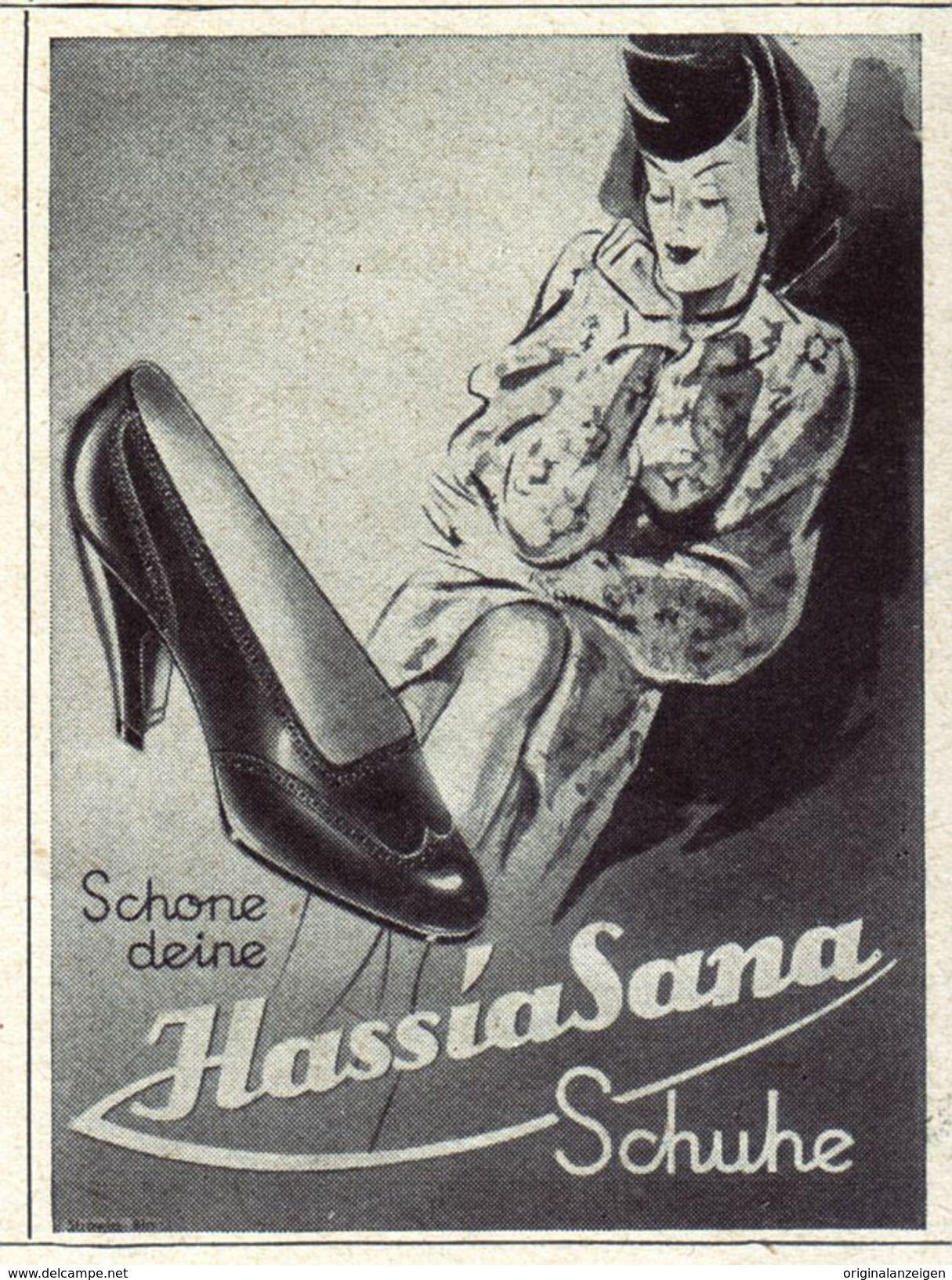 Original-Werbung/ Anzeige 1942 - HASSIA SANA SCHUHE - ca. 45 x 65 mm
