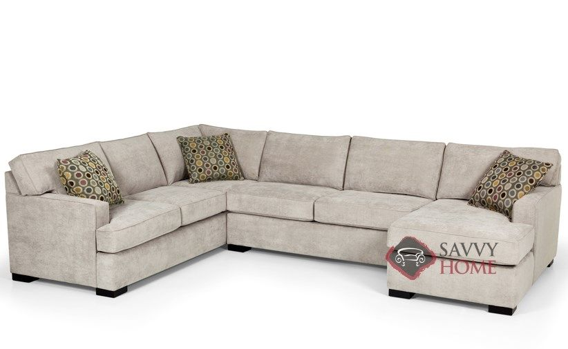 The 146 U Shape True Sectional Queen Sleeper Sofa By Stanton At Savvy Home.