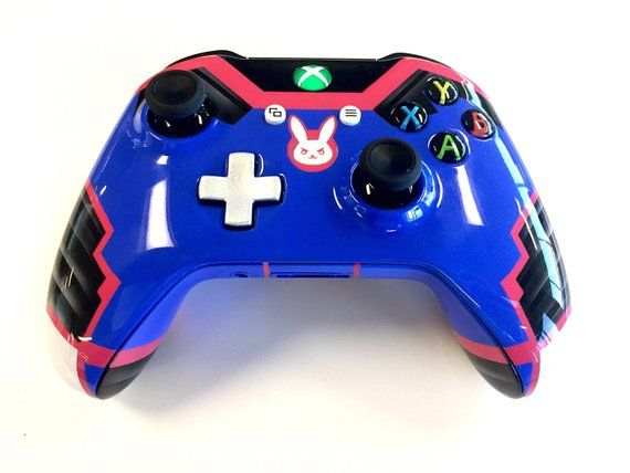 Custom Painted Overwatch D VA Suit Xbox One Wireless Controller S