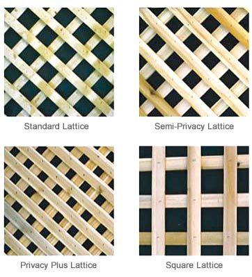 Wonderboard Wood Lath Trellis Privacy Lattice Panels Lattice
