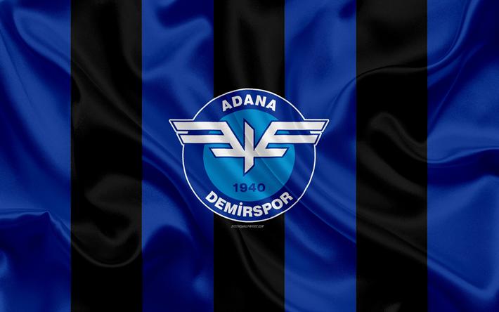 Download Wallpapers Adana Demirspor 4k Logo Silk Texture Turkish Football Club Blue Black Flag Emblem 1 Lig Tff First League Adana Turkey Football Duvar Kagidi Ayi Spor