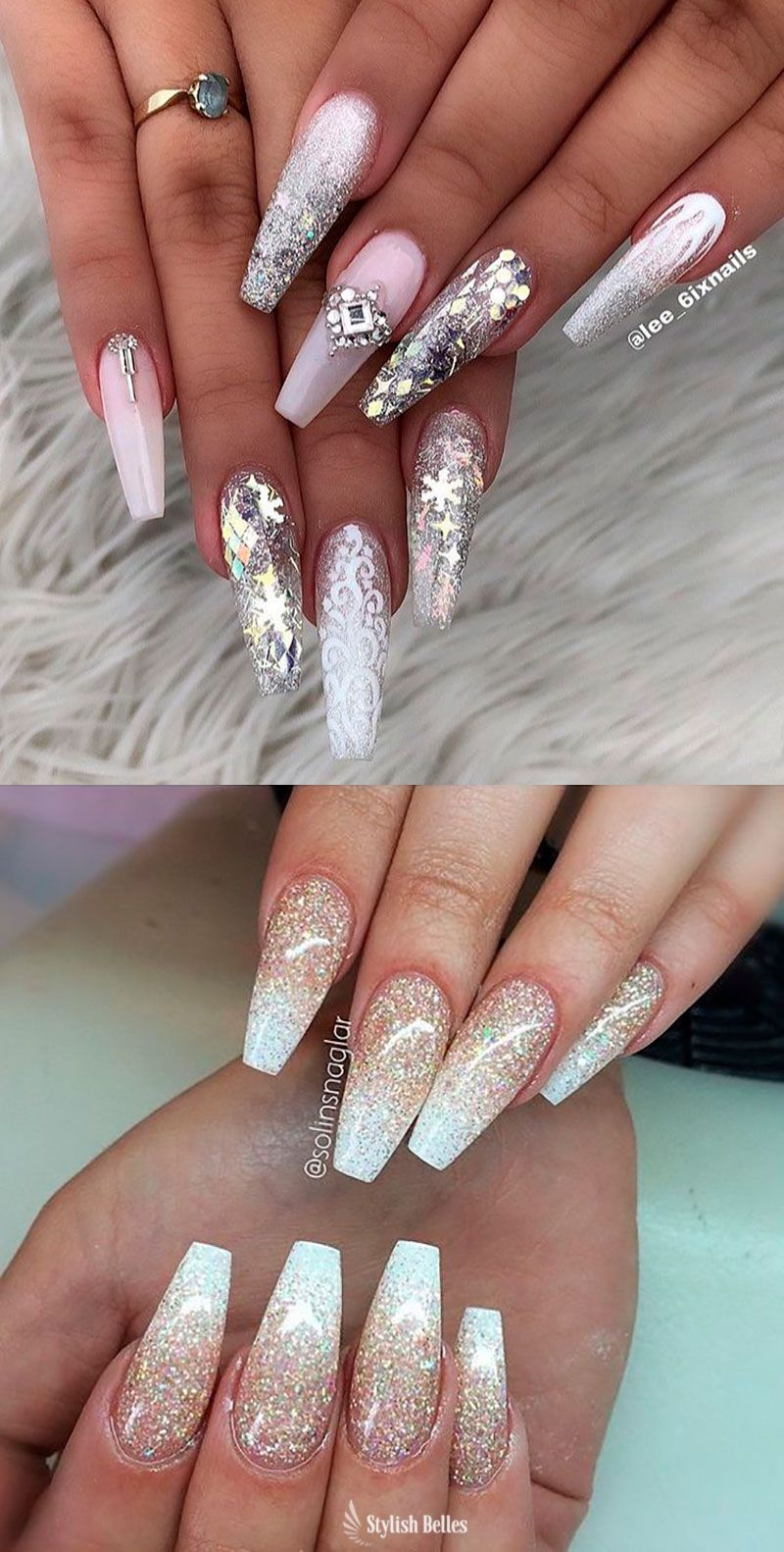 120 Best Coffin Nails Ideas That Suit Everyone Bride Nails Shiny Nails Designs Ombre Nails Glitter